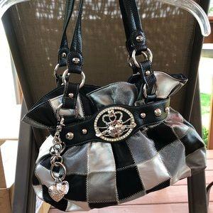 Kathy Van Zeeland black and white bag NWT